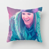 Mad March Throw Pillow