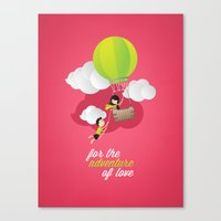 for the adventure of love Canvas Print