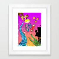 Have Fun Storming the Castle! Framed Art Print