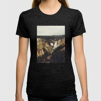 Yellowstone Falls Womens Fitted Tee Tri-Black SMALL