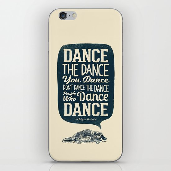 Platypus The Wise iPhone & iPod Skin