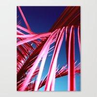 red palm leaf VII Canvas Print