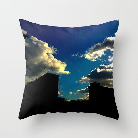The Clouds above Throw Pillow