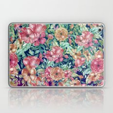 Vintage bohemian pink orange watercolor floral  Laptop & iPad Skin