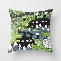 Little Lurkers Throw Pillow