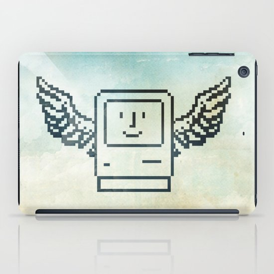 pixel mac with wings iPad Case