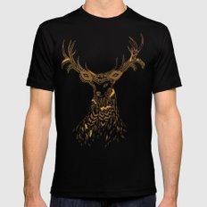 Tribal Deer Mens Fitted Tee Black SMALL