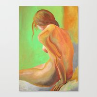 Young Beautiful Nude Wom… Canvas Print