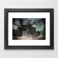 Patchwork Abstract  Framed Art Print