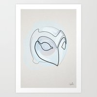 One line Phantom of the Paradise Helmet Art Print