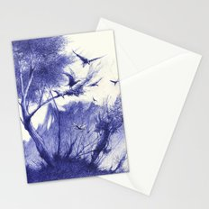 blaue Vögel Stationery Cards