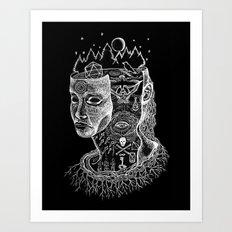 Secrets Of Your Skull Art Print