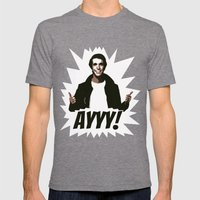 HAPPY DAYS     FONZIE     AYYY! Mens Fitted Tee Tri-Grey SMALL