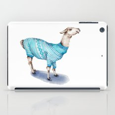 Llama in a Blue Sweater iPad Case