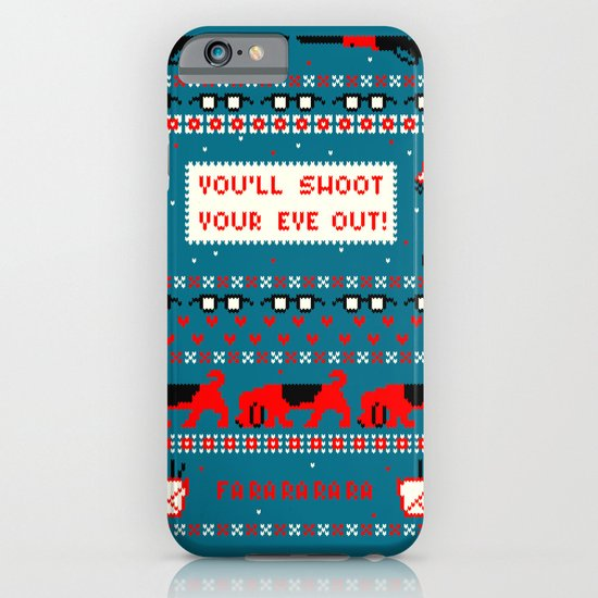 A Christmas Sweater (Blue) iPhone & iPod Case