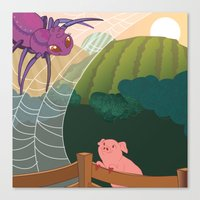 The Spider And The Pig Canvas Print