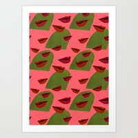 Retro Lips (2) Art Print
