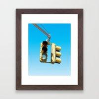 Traffic Lights Framed Art Print