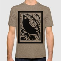 Doodlebird Print Mens Fitted Tee Tri-Coffee SMALL