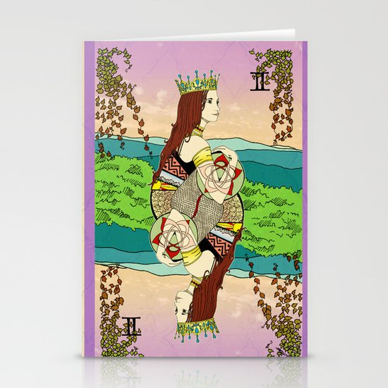 The Queen (Twins) Stationery Card