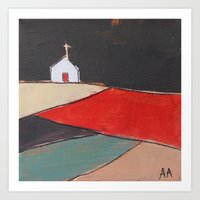 Church on a Hill Art Print