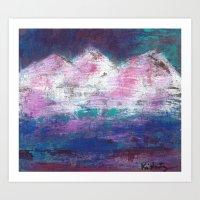 Pink Mountains Art Print