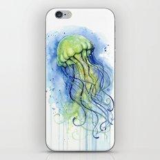 Jellyfish Watercolor   Sea Creatures iPhone & iPod Skin