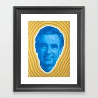 Mister Rogers Psychedeli… Framed Art Print