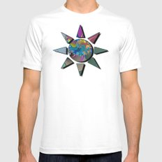 wet paint fractal  White Mens Fitted Tee SMALL