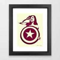 Captain Girl America Framed Art Print