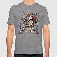JunkBot Mens Fitted Tee Tri-Grey SMALL