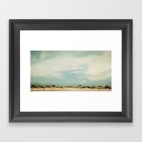 Sleepy Beach Town #2 Framed Art Print