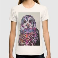 Something like an Owl Womens Fitted Tee Natural SMALL