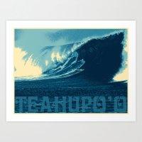 Teahupo'o Wave Print Art Print