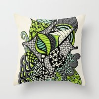 The Flying Snail Throw Pillow