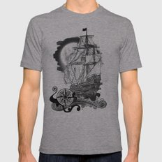 The sea route to the moon Mens Fitted Tee Athletic Grey SMALL