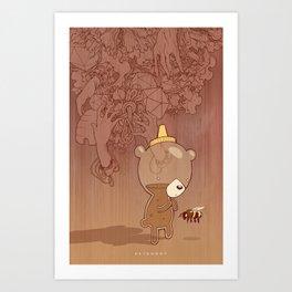 Art Print - Honeyrama - hatrobot