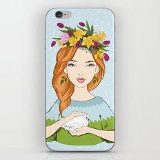 Spring girl iPhone & iPod Skin