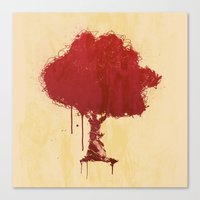 S Tree T Canvas Print
