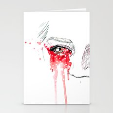 Blood Red Eyes Stationery Cards