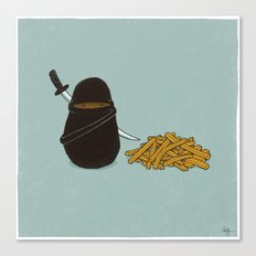 Potato Ninja Canvas Print