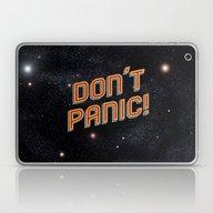Laptop & iPad Skin featuring Don't Panic by Sarajea