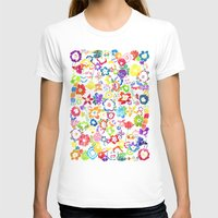 Bloom Womens Fitted Tee White SMALL