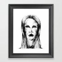 Goth Girl Framed Art Print