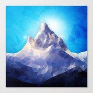 Space Mountain II Canvas Print