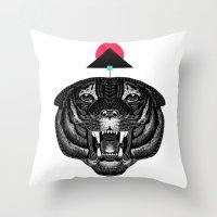 Roar My *--Tiger--* Throw Pillow