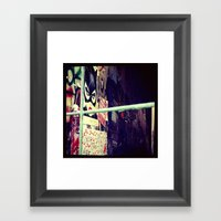 :: STREET ART //PART II - HAMBURG Framed Art Print
