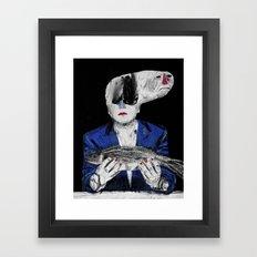 Meditation on a dead fish. 2015. Framed Art Print