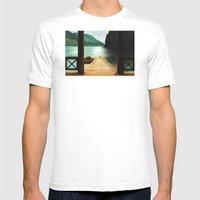 Lake Mens Fitted Tee White SMALL