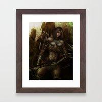 Huntress Framed Art Print